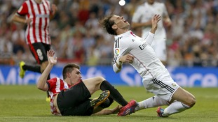 Gareth Bale getting tackled