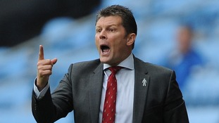 Bristol City manager Steve Cotterill at Coventry on Saturday