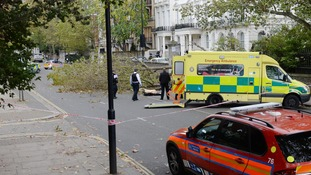 Two dead as the remnants of Hurricane Gonzalo hit the UK