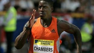Dwain Chambers running