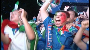 Fans celebrating in Bedford when Italy won the World Cup in 2006