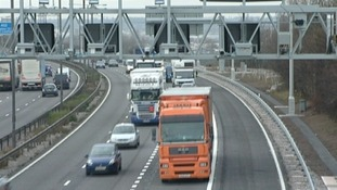 Example of a Managed Motorway between junctions 4 and 5 oi the M6