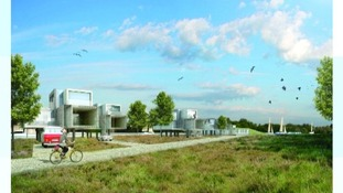 Artist impression of future coastal homes earmarked for Lowestoft.