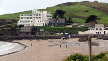 The iconic Burgh Island hotel is one of the few buildings on the island