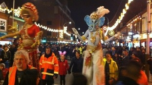The annual Diwali parade on Leicester's Belgrave Road