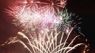 A Diwali firework display
