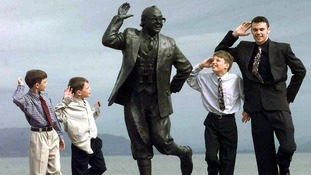 The grandchildren of Eric Morecambe at the unveiling of the statue.