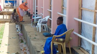 The staff at the Ebola treatment centre only are only able to cope with 90 patients .