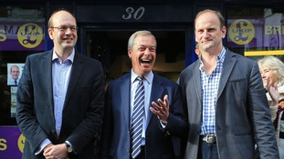 Mark Reckless with Nigel Farage and Douglas Carswell