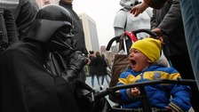 The usual politician's gambit of canvassing young children appeared not to have paid off  for Comrade Vader.