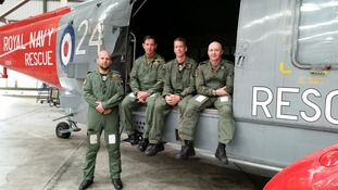 Four aircrew from 771 Naval Air Sqn