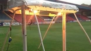 Lamp seized from cannabis farm at Rochdale FC