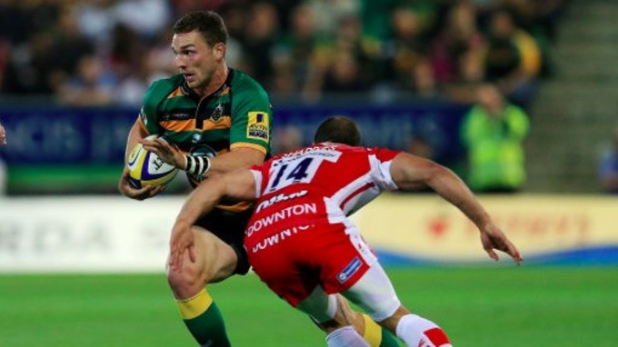 George North In Action For Northampton Saints Against Gloucester Earlier This Season