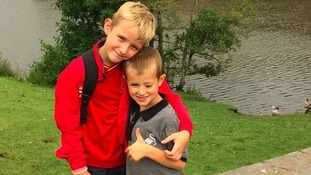 Alfie and his brother share award after battle with rare eye cancer