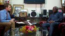 ITV News Correspondent Dan Rivers speaks to Sierra Leone President Ernest Bai Koroma.