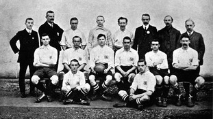 The Great Britain 1908 Olympic team which won gold