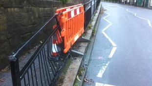 The driver was arrested after crashing into railings