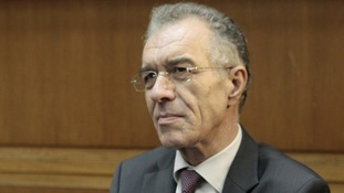 Greece's National Bank chairman Vassilis Rapanos is being treated in hospital
