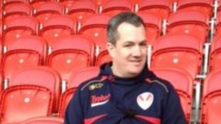 Mike Rush sits in Langtree Park