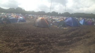 Hundreds have continued to camp despite the down pours