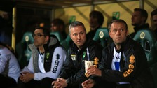 Norwich City manager Neil Adams on the bench at Carrow Road