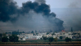 Kobani, close to the border with Turkey, has seen fierce fighting between Kurdish troops and IS militants.
