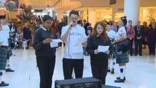 Sixth form students from Littleover Community School read poems.
