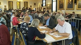 Recount at the Town Hall