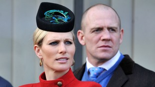 Zara Phillips and Mike Tindall on Ladies Day at the 2013 Cheltenham Festival.