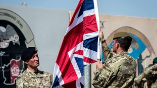The last flying Union flag of Great Britain in Helmand Province