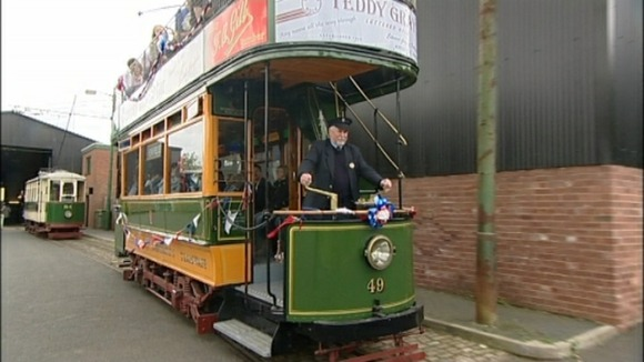 The Olympic torch will travel on this tram 49 built in the early 1900's