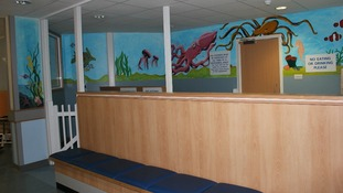 New waiting area in Maidstone Hospital