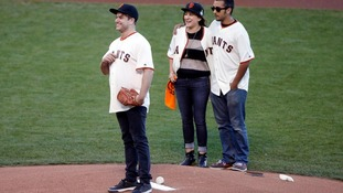 Children of Robin Williams throw first pitch at World Series Game 5