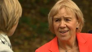 Regina Albrecht speaks to ITV News Presenter Julie Etchingham