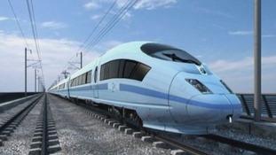 A HS2 train