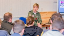 Squadron Leader Shackleton spoke to the air cadets in Tynemouth