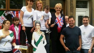 Even the Queen came to cheer the torch on along Burnley Road