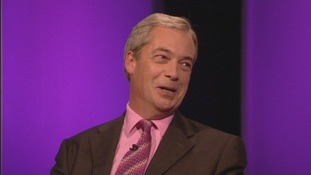 Ukip leader Nigel Farage speaks to Tom Bradby on ITV's The Agenda.