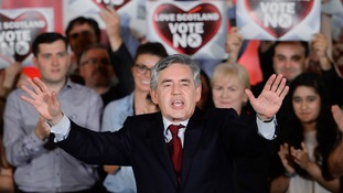 Former Prime Minister Gordon Brown was prominent in the Better Together campaign.