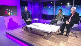 Adrian Masters with guests Liz Saville Roberts and Gareth Hughes