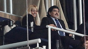 Diego Maradona secretly filmed 'beating' his girlfriend after row over mobile phone