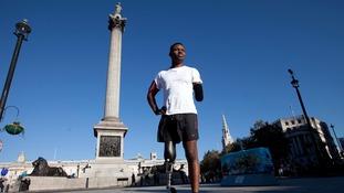 Ben McBean in Trafalgar Square