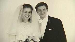 Regina and Eckhard Albrecht on their wedding day