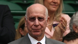 World Cup winner Sir Bobby Charlton will carry the Olympic flame on Sunday.