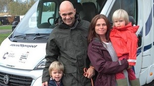 The Hursts downsized their £280,000 three-bed cottage to fund the four-month drive in a Swift Escape 696 van.