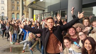 Olly Murs is visiting Newcastle today