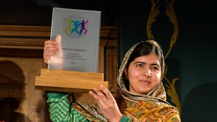 Malala Yousafzai donated the $50,000 prize money to the United Nations Relief and Works Agency.