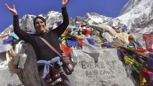 Granny, 75, climbs to the top of Mount Everest to raise money for disability charity
