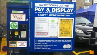 Parking meter vandalised in Market Square
