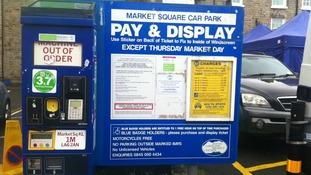 Parking meter vandalised in Market Square